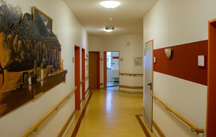 Flur im Pflegezentrum St. Kilian in Esterwegen